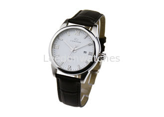 China Quartz Movt Leather Wristband Watch , 10ATM Waterproof Classic Leather Watch supplier