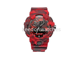 China LED Display Screen Plastic Sports Watch 50M Water Resistant With Chronograph supplier