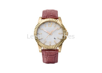 China Super Luminous Genuine Leather Wrist Watch 10ATM Waterproof Custom Design supplier