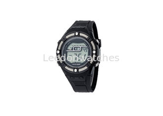 China Sports Alarm Children's Digital Watch Chronograph Water Resistant Multi Color supplier