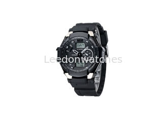 China Shock Resistant Children Black Analog Digital Watch Waterproof Stainless Steel Clasp supplier