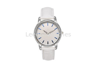 China 30MM Diameter Alloy Women Quartz Watches Hardened Glass With PU Leather Strap supplier