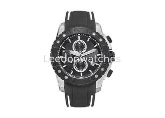 China Silicone Strap Automatic Quartz Watch , Waterproof Male Analog Quartz Watch supplier