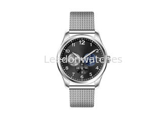 China 10ATM Sapphire Crystal Quartz Chronograph Watch Stainless Steel Mesh Band supplier