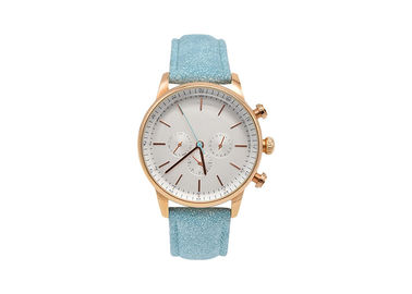 Leather Strap Alloy Ladies Wrist Watch Quartz Movt Stainless Steel Back Cover