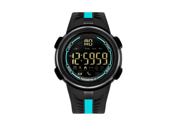Smart Outdoor Men Plastic Sports Watch 304 Stainless Steel With App Remind Function
