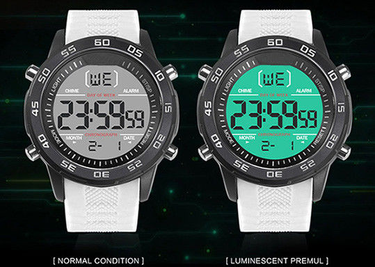 Shock Resistant Digital Plastic Sports Watch 5cm Dial Diameter With Alarm Function