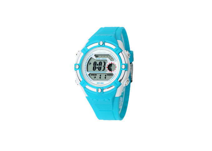 Girls Children'S Digital Watch LED Display Plastic Case With Alarm Function